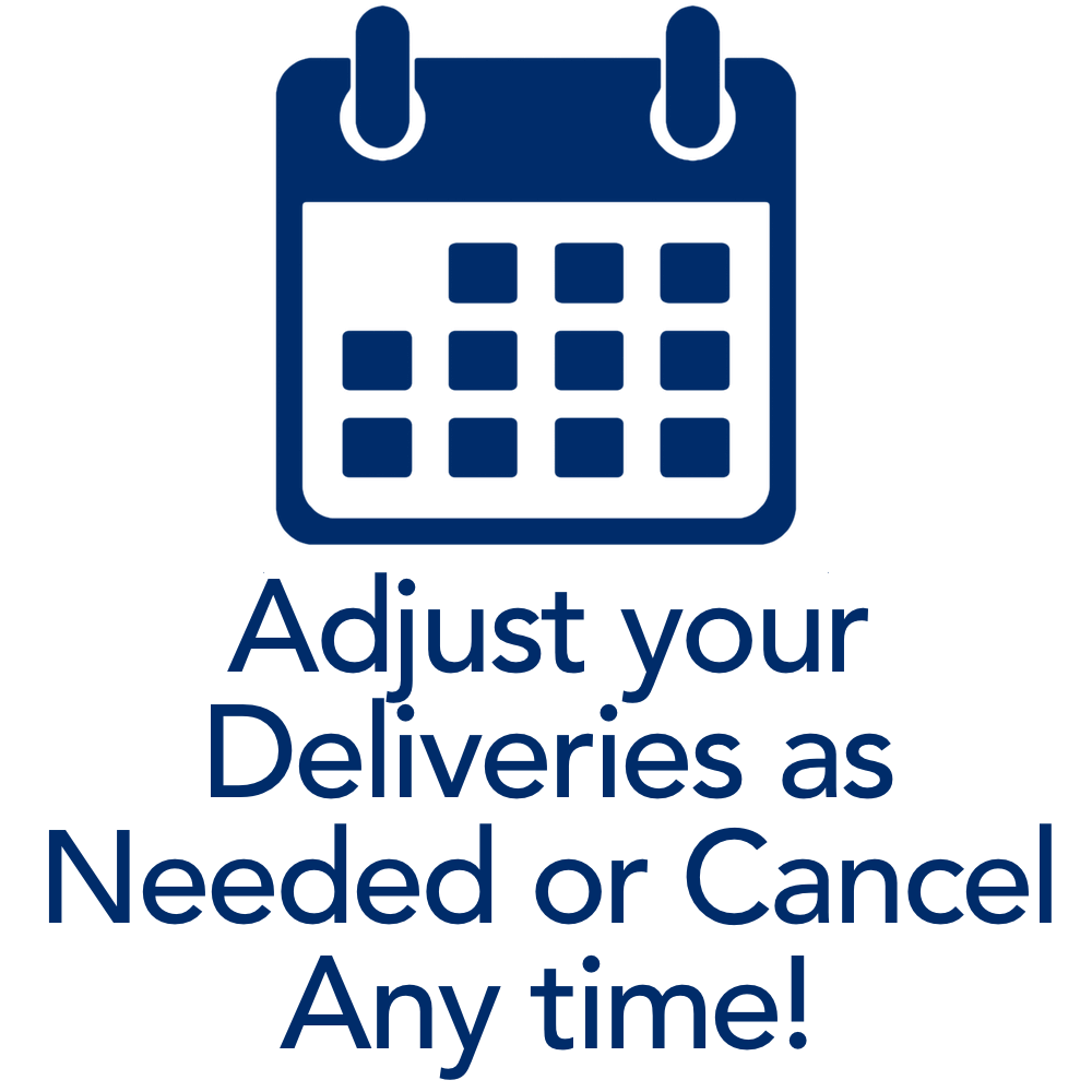adjust your multivitamin deliveries or cancel any time.